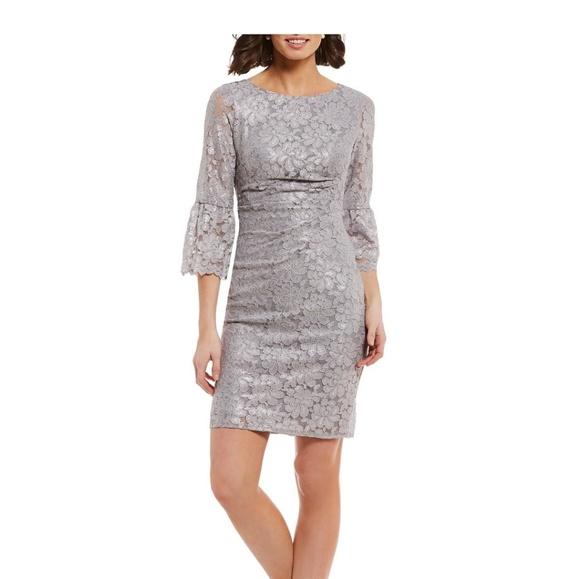 515a121d5c3c Jessica Howard Dresses | Nwot Lace Bell Sleeve Sheath Dress | Poshmark
